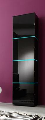 Regalschrank Square weiß o. schwarz hochglanz opt. LED-RGB-Beleuchtung – Bild 1
