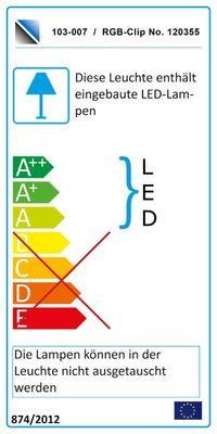 "Wohnwand ""Square"" weiß o. schwarz hochglanz, optional LED-RGB-Beleuchtung – Bild 4"