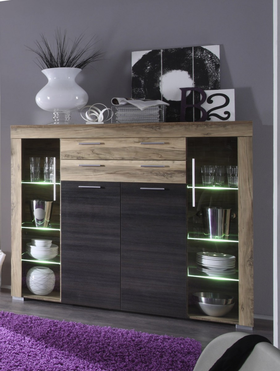Dreams4Home Highboard Base Anrichte Kommode Sideboard Wohnzimmer ...