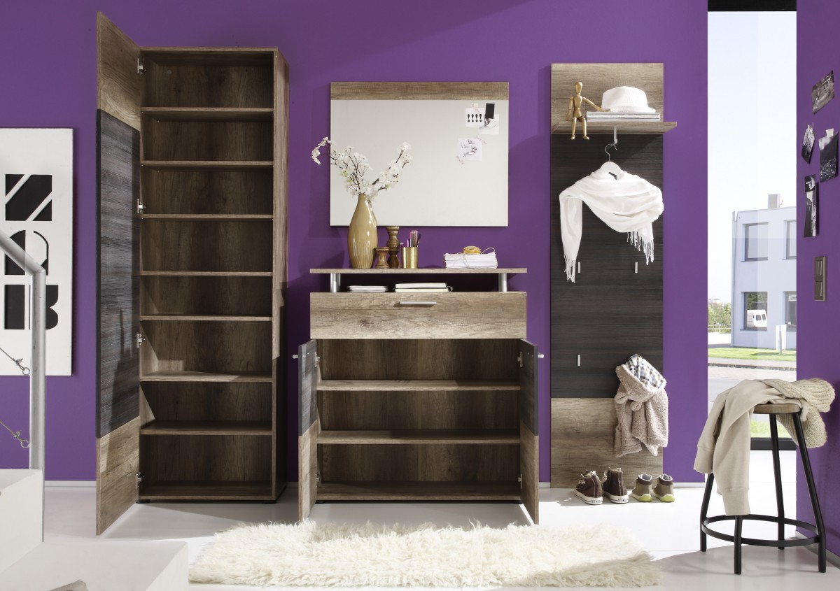 dreams4home garderoben set ii neva 3 teilig dielen set garderobe diele flur flurm bel. Black Bedroom Furniture Sets. Home Design Ideas