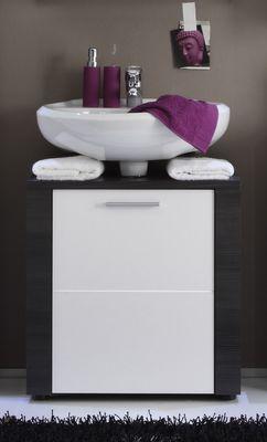 Waschbeckenunterschrank Nizza, Esche grau / weiß – Bild 1