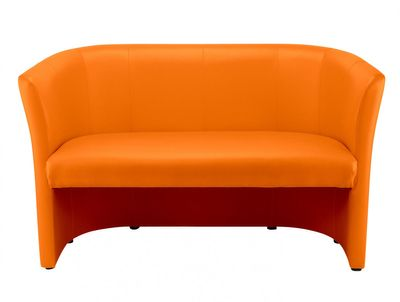 "Schweres Clubsofa ""Sam II"", orange"