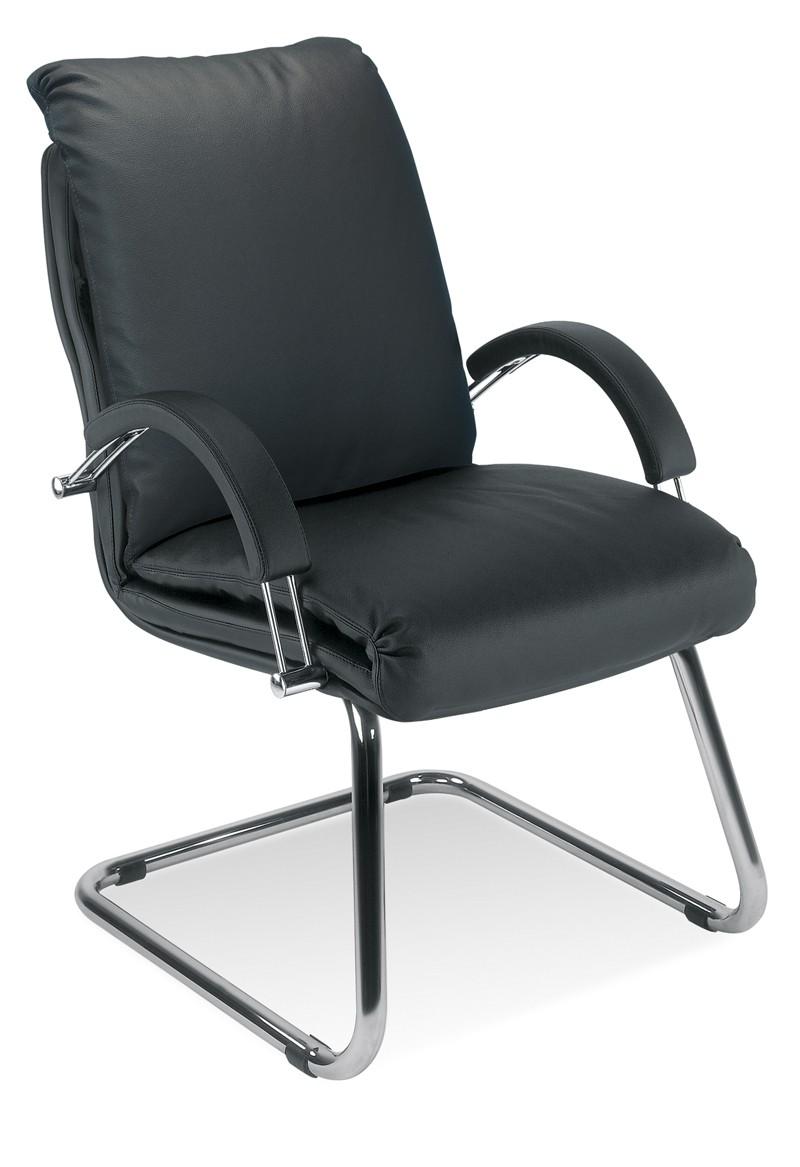 dreams4home freischwinger viletta konferenzstuhl schwingstuhl mit armlehnen schwarz m bel. Black Bedroom Furniture Sets. Home Design Ideas