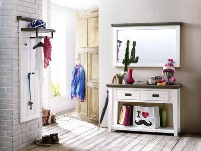 """Garderobe """"Finnley"""", Massivholz, Akazie – Bild 1"""
