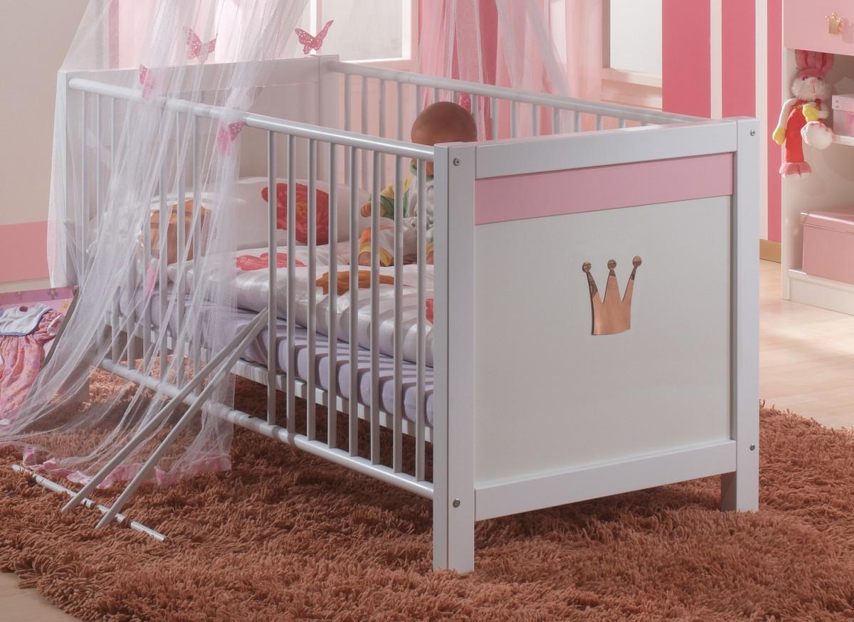 Dreams4home Babybett Princess Baby Bett 70 X 140 Babyzimmer