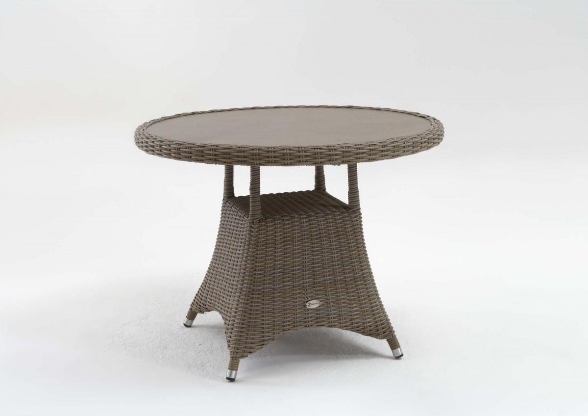 Gartentisch Roy Vintage Grau 100 Cm Wetterfeste Tischplatte