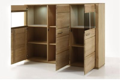 "Highboard massiv ""Yascha"" Eiche Bianco – Bild 3"
