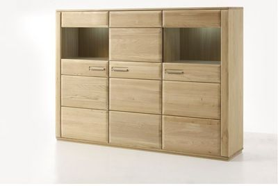 "Highboard massiv ""Yascha"" Eiche Bianco – Bild 2"