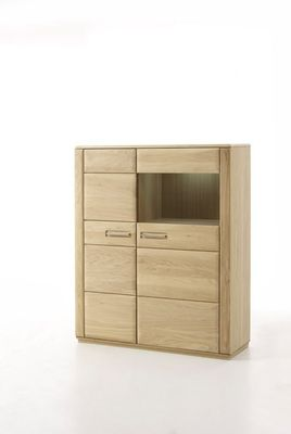 "Highboard massiv ""Yascha II"" Eiche Bianco – Bild 2"