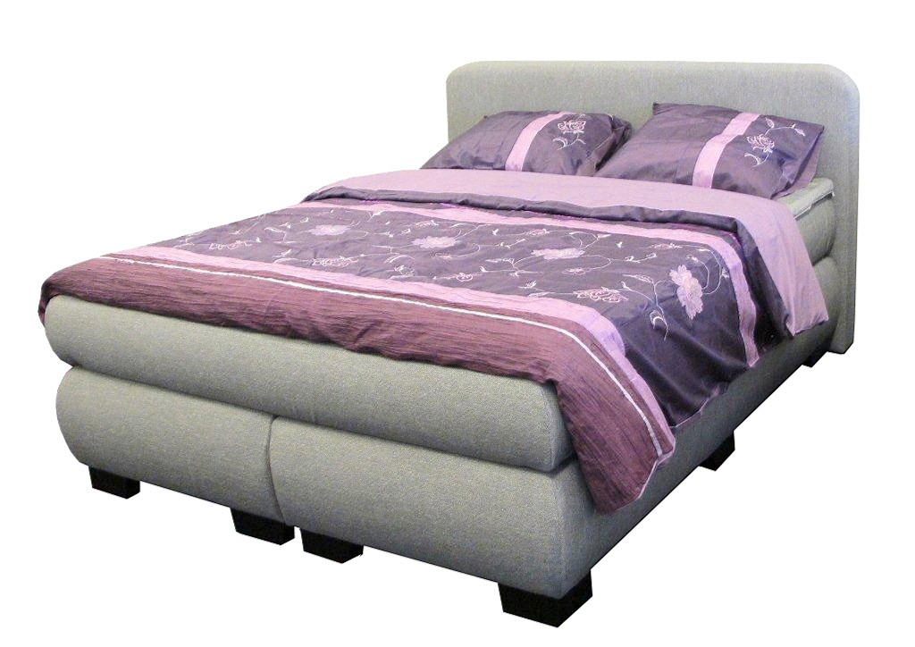dreams4home boxspringbett sleepy grau 90 100 140 120 160 180 200x200cm hotelbett. Black Bedroom Furniture Sets. Home Design Ideas