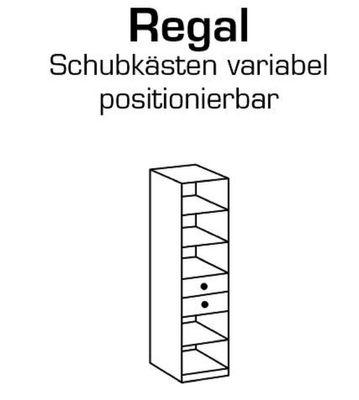 """Regal """"Holmes"""" - in Weißeiche Nachbildung - Absätze in Ice White – Bild 3"""