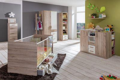 """Babyzimmer """"Riba I"""" - in San Remo Eiche NB + Alpinweiß"""