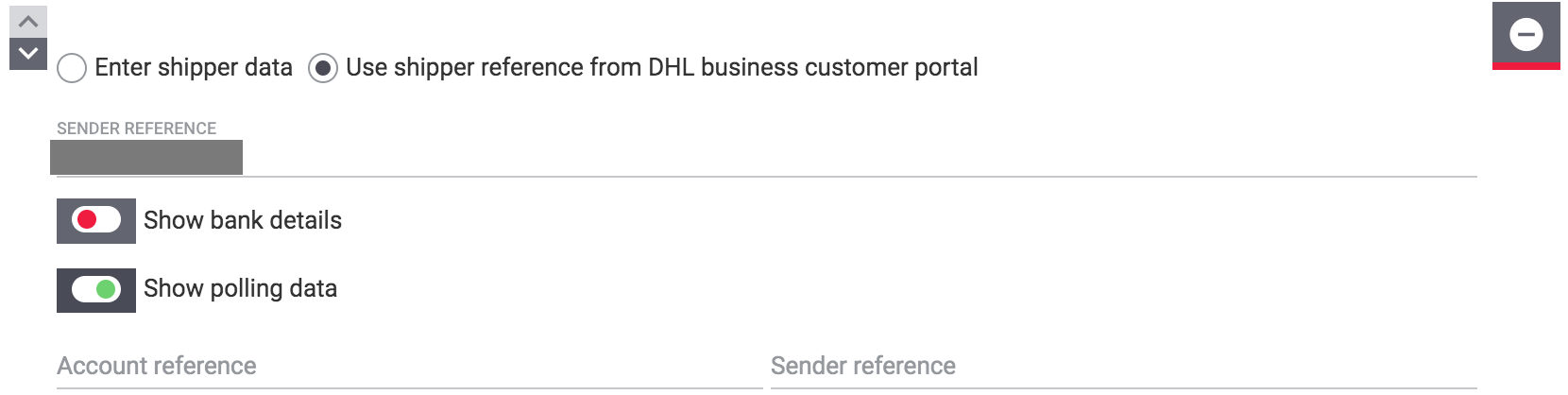dhl assistant show polling data