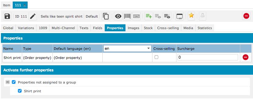 bp ceres order properties item