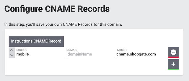 CNAME Configuration