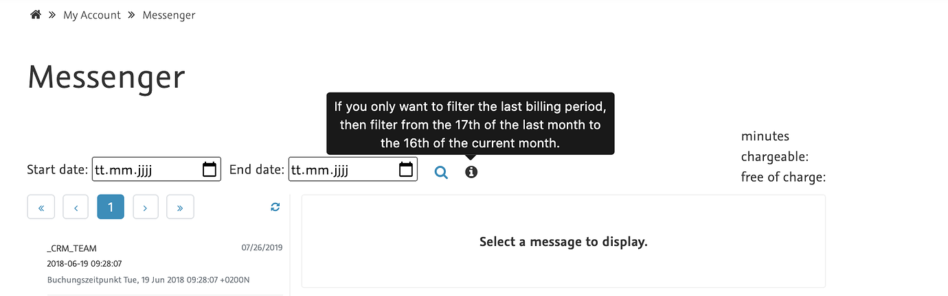mein konto messenger filter