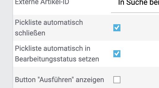 Die neue Option ist direkt unter dem Eintrag Pickliste automatisch schließen zu finden.