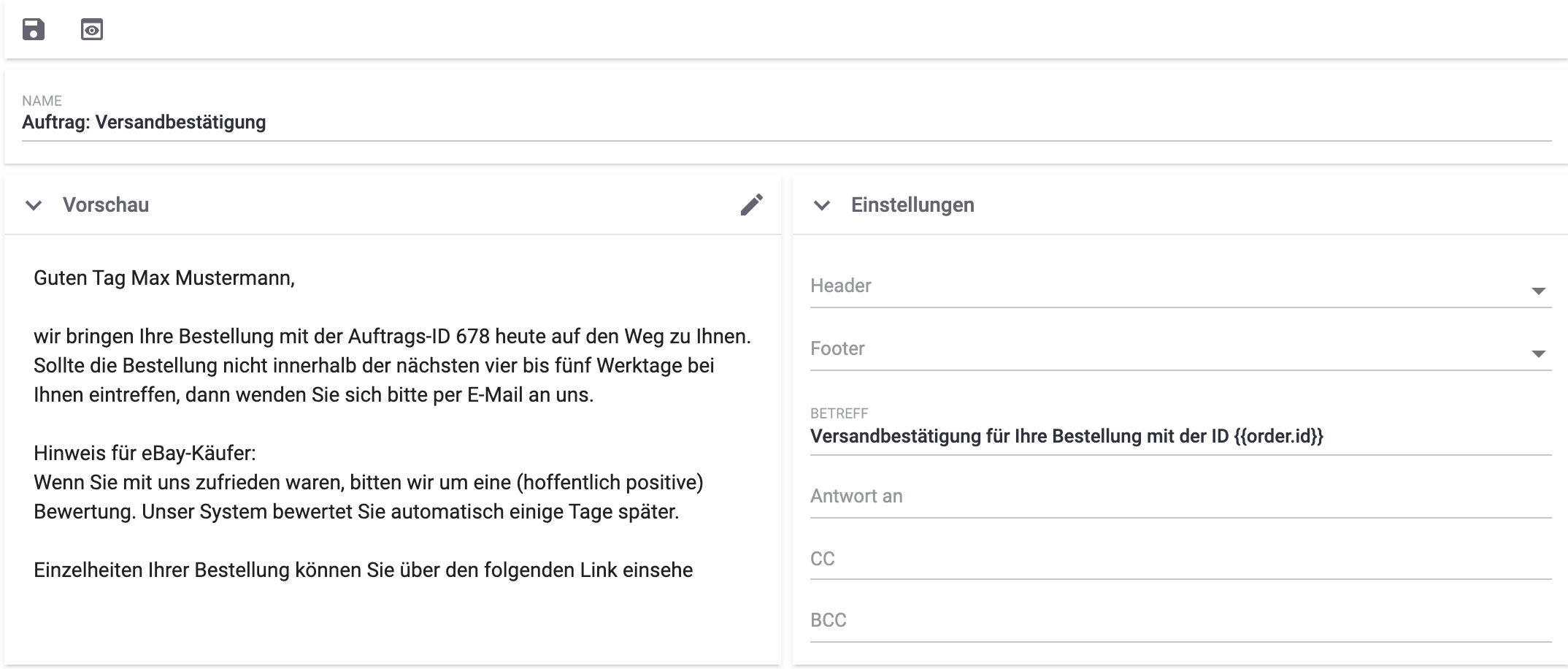 emailbuilder example default template