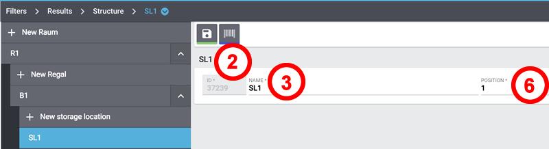 storagelocation data fields structure manager