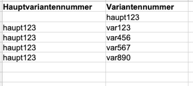 best practice variante nummern