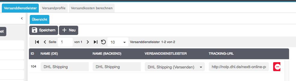 praxisbeispiel dhl shipping versanddienstleister erstellen