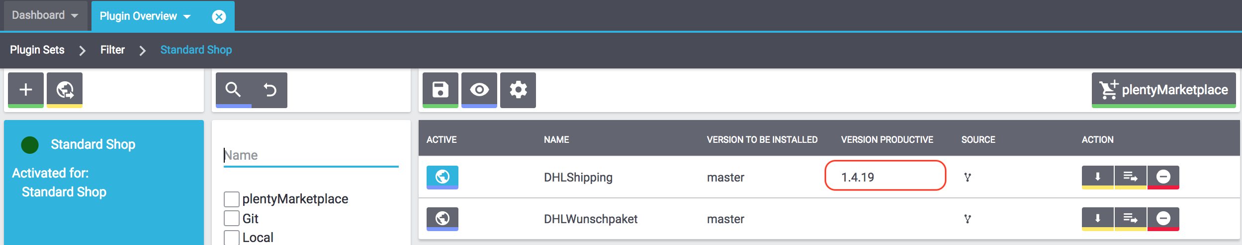 DHL plugin overview version