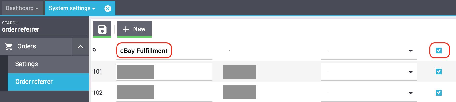 eBay Fulfillment activate order referrer