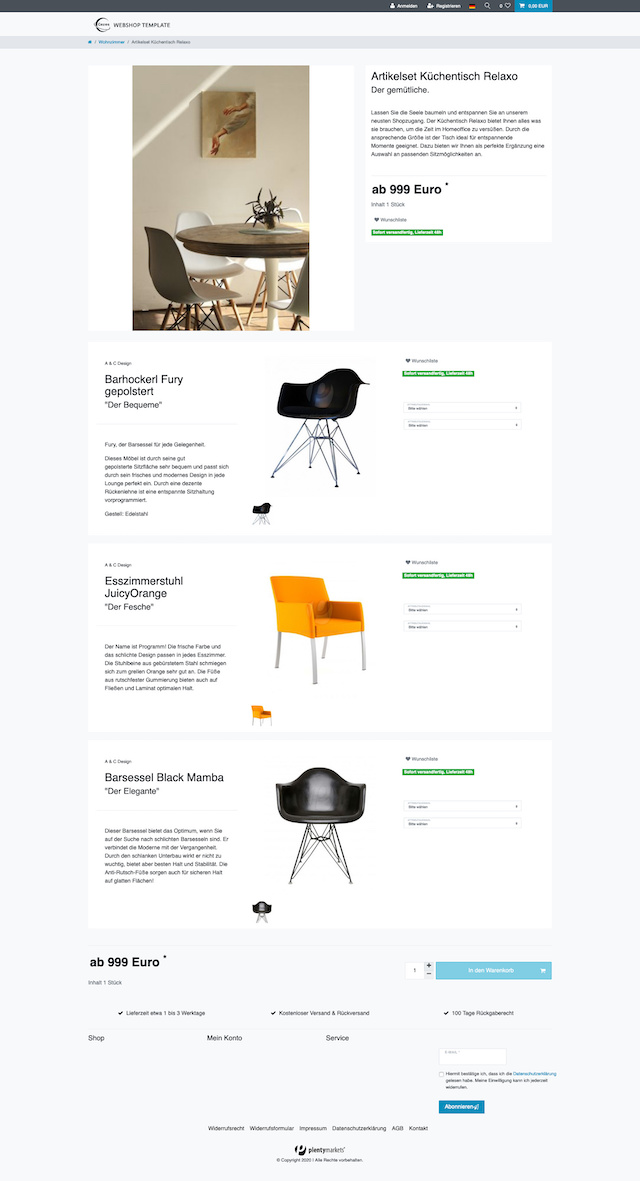 set webshop