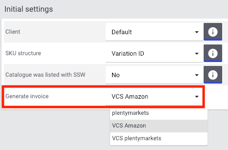Invoice generation by Amazon