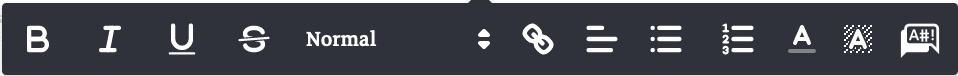 inline editing options