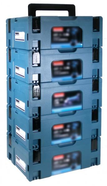 makita makpac gr 2 transportbox 5er set werkzeuge zubeh r werkzeug koffer makita. Black Bedroom Furniture Sets. Home Design Ideas