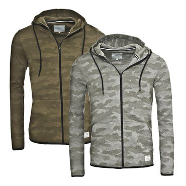 JACK & JONES CAMO Sweat Zip Hood