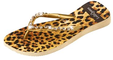 Lolli Queen Zehentrenner Leopard Black Chain