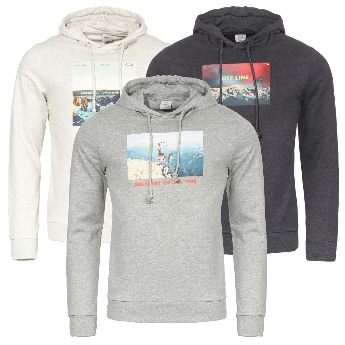 5c6e36be3c0517 JACK   JONES JORSOCIAL SWEAT HOOD HERREN KAPUZENPULLOVER S