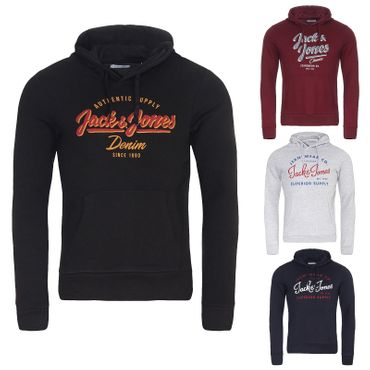 JACK & JONES JJELOGO SWEAT HOOD 2 COL 19/20 NOOS