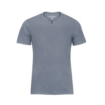 JACK & JONES HERREN SHIRT JJESPLIT NECK TEE SS NOOS