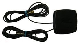 Alda PQ Antenne mit Magnetstandfuß für 2G/GSM, 3G/UMTS, GPS, mit Fakra/F Bordeaux Code D, Fakra/F Blue Code C Stecker und 5m Kabel