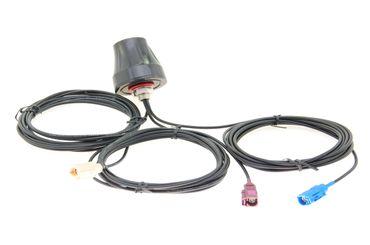 Alda PQ Antenne zur Dachmontage für 2G (GSM), 3G (UMTS), GPS, WIFI / BLUETOOTH mit NEU FAKRA/F BLUE CODE C und Neu FAKRA/F Bordeaux Code D und Neu FAKRA/F Beige Code I Stecker und 3m Kabel 3 dBi Gewinn – Bild 1