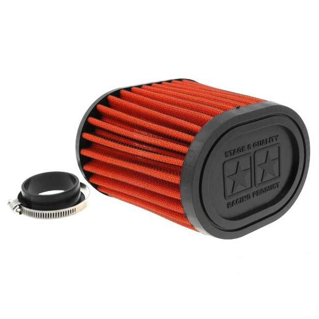 Racingluftfilter Stage6 Drag-Race, Airbox orange, 44mm + 49mm Anschluss