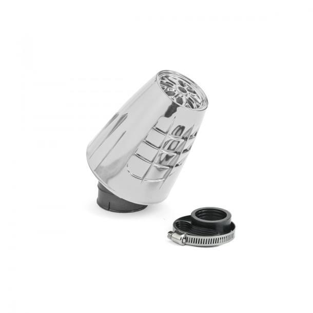 Luftfilter TNT Obus Chrom, Anschluss 28 / 35mm