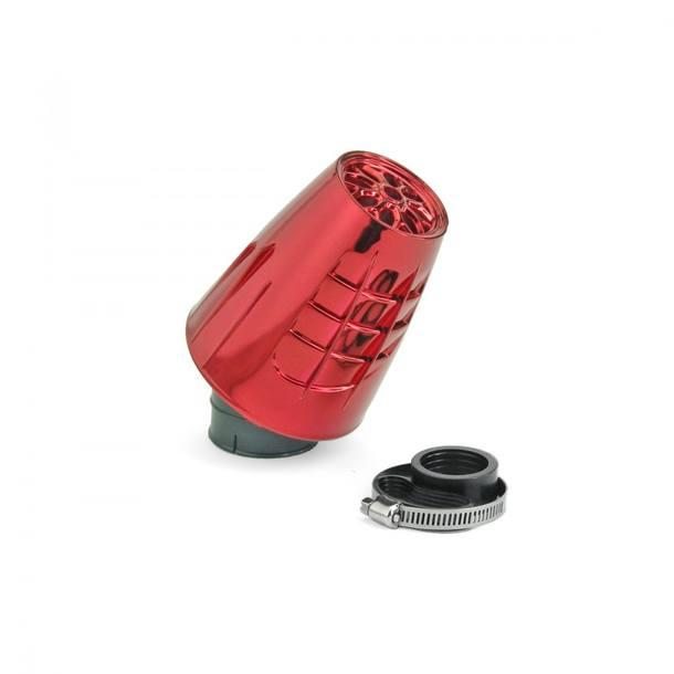Luftfilter TNT Obus Rot eloxiert, Anschluss 28 / 35mm