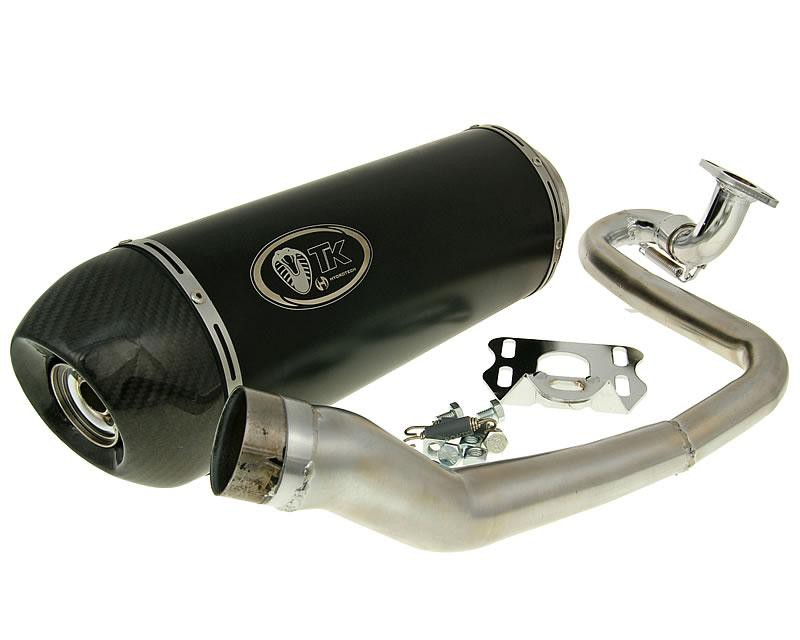 exhaust Turbo Kit GMax Carbon H2 4T E-marked for China GY6 125/150cc