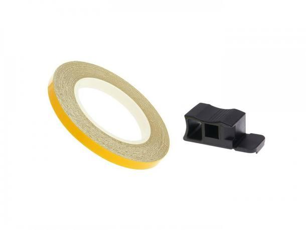 Felgenrand Aufkleber 7mm - gelb - 600cm