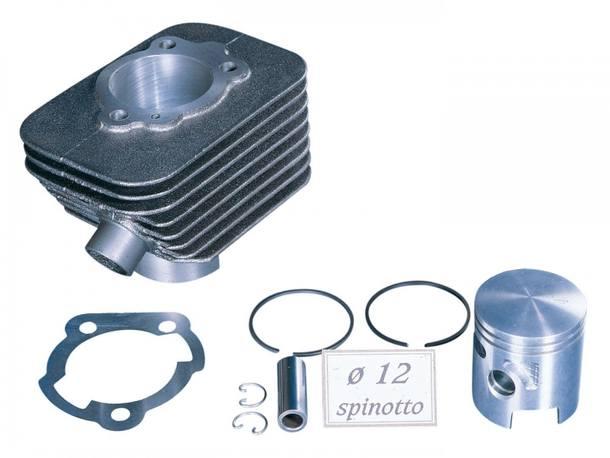 Zylinderkit Polini Grauguss Sport 63ccm 12mm Kolbenbolzen ohne Kopf für Piaggio Boxer, Bravo, CBA, Ciao, Eco, Grillo, Si