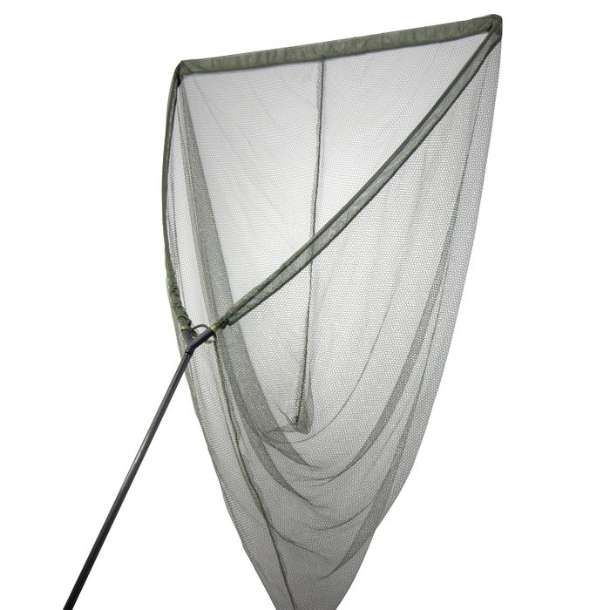 "Lucx® Dreamcatcher Kescher Landing Net Karpfenkescher  2-teilig 42""- Carbon - Netz grün – Bild 1"
