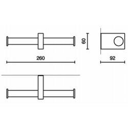 ZACK Doppel-Toilettenpapierhalter FRESCO 40198