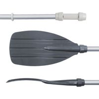 Blueborn SC-1410 - Double pagaie en aluminium 222cm avec pales PP, 4 pièces, 970g