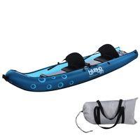 Blueborn Coasteer SRE300 Sit-On-Top Boot für 2 Personen, 300x88 cm mit Nylonhülle, Kanu Kajak Schlauchboot Boot, Ruderboot mit 165kg Tragkraft, ideal fürs Schnorcheln und Tauchen