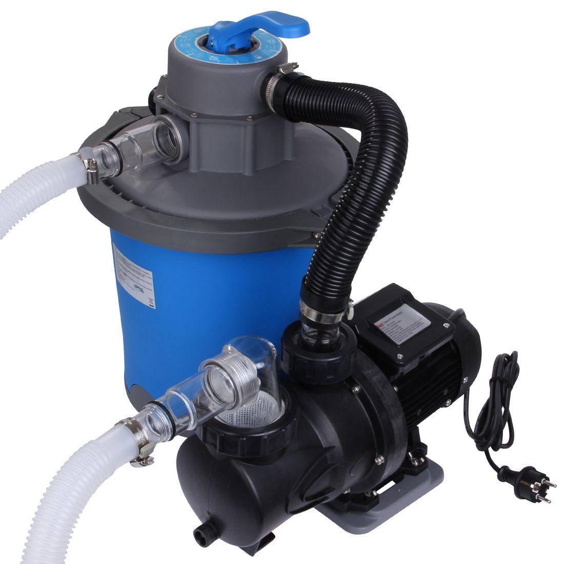 Hervorragend Blueborn Sand-Filteranlage SFP 6813 L/h Sandfilter Pool-Pumpe 6 PS05