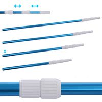 Blueborn pool pole PPS-3x80 Aluminum telescopic pole 3-part 100 - 240 cm pole for pool cleaning